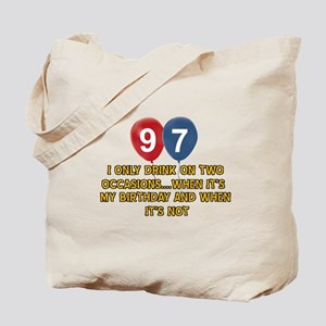 97 year old birthday designs Tote Bag