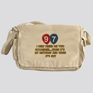 97 year old birthday designs Messenger Bag