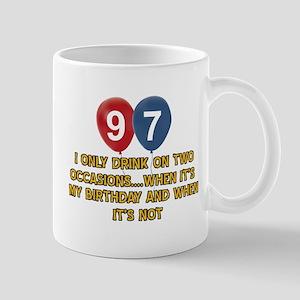 97 year old birthday designs Mug