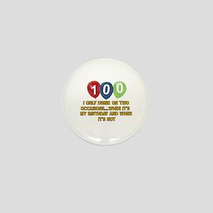 100 year old birthday designs Mini Button