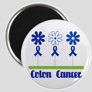 Colon Cancer Flowered Magnet