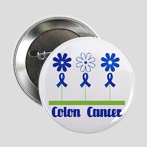 "Colon Cancer Flowered 2.25"" Button"