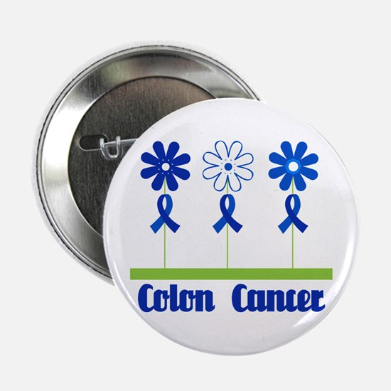 "Colon Cancer Flowered 2.25"" Button"