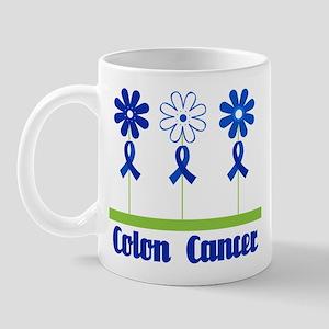 Colon Cancer Flowered Mug