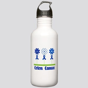 Colon Cancer Flowered Stainless Water Bottle 1.0L