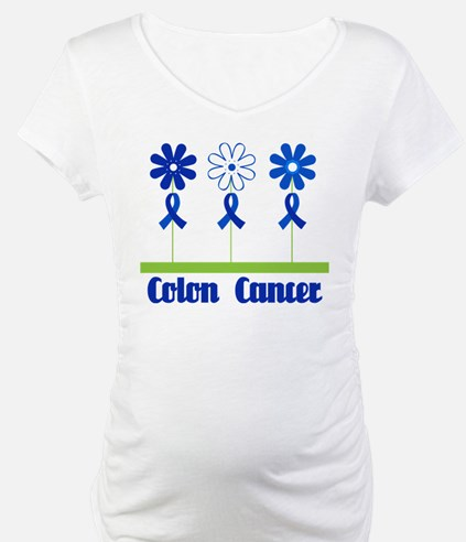 Colon Cancer Flowered Shirt