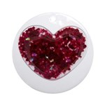 Big red heart Ornament (Round)