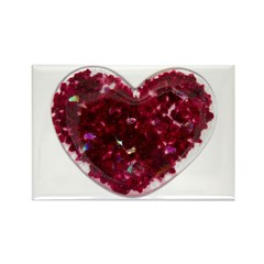 Big red heart Rectangle Magnet