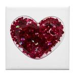 Big red heart Tile Coaster