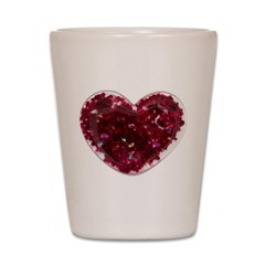 Big red heart Shot Glass