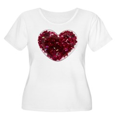Big red heart Plus Size T-Shirt
