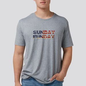 SUNDAY FUNDAY USA TEE SHIRT Mens Tri-blend T-Shirt