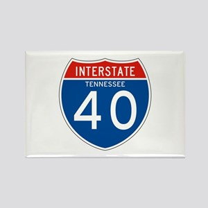 Interstate 40 - TN Rectangle Magnet