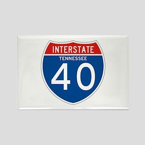 Interstate 40 - TN Rectangle Magnet