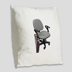 OfficeChairBriefcase102811 Burlap Throw Pillow