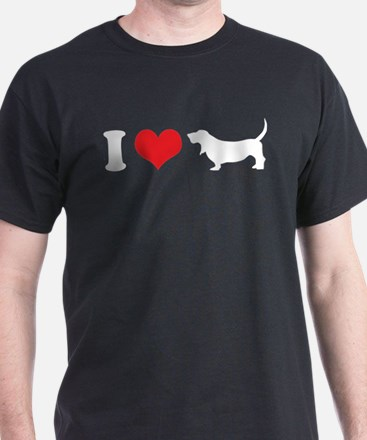 I Heart Basset Hounds T-Shirt