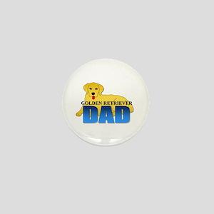 Golden Retriever Dad Mini Button