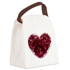 Big red heart Canvas Lunch Bag