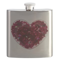 Big red heart Flask