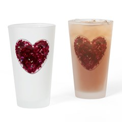 Big red heart Drinking Glass