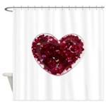 Big red heart Shower Curtain