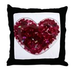 Big red heart Throw Pillow