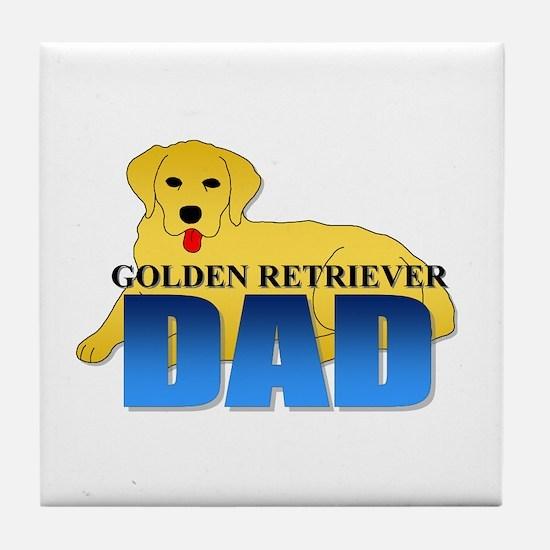 Golden Retriever Dad Tile Coaster