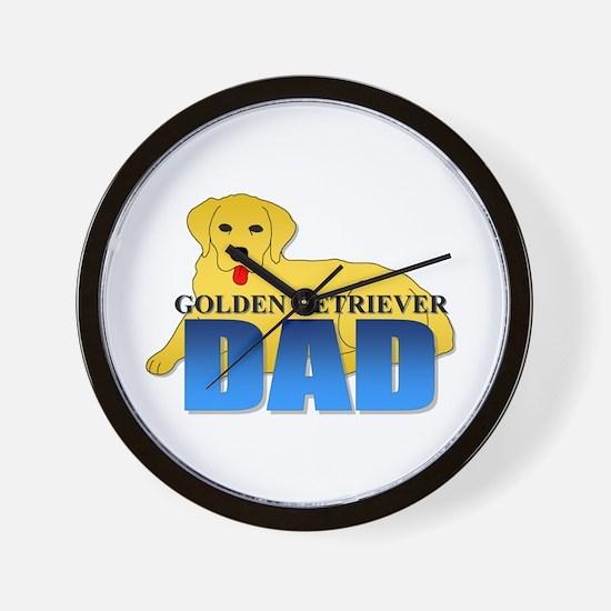 Golden Retriever Dad Wall Clock