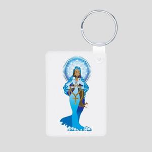 The Virgin Mary Aluminum Photo Keychain