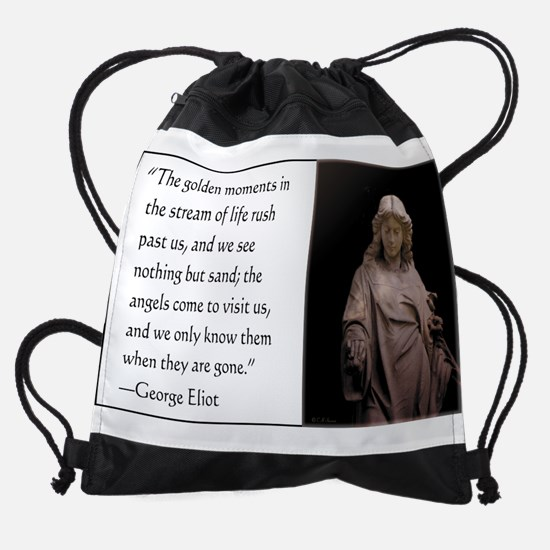 Angels Come to Visit Drawstring Bag