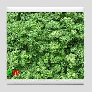 Green parsley (Beautiful Plant World) Tile Coaster