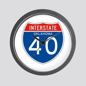 Interstate 40 - OK Wall Clock