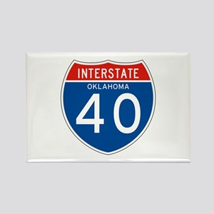 Interstate 40 - OK Rectangle Magnet