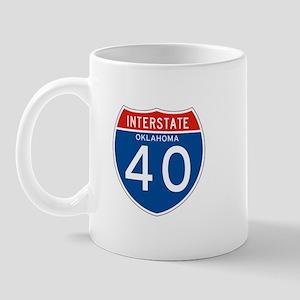 Interstate 40 - OK Mug