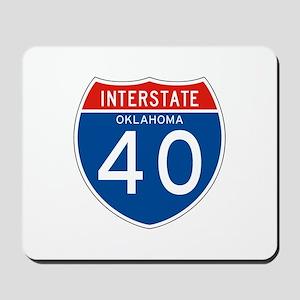 Interstate 40 - OK Mousepad