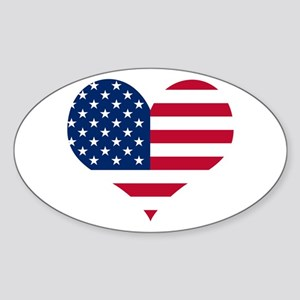 American Heart Oval Sticker