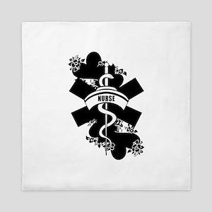 Nurse Heart Tattoo Queen Duvet