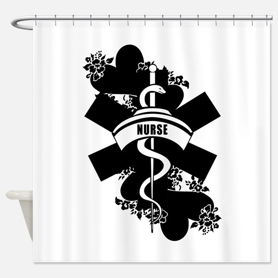 Nurse Heart Tattoo Shower Curtain