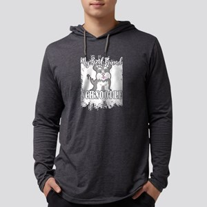 MY BEST FRIEND IS A SCHNOODLE SH Mens Hooded Shirt