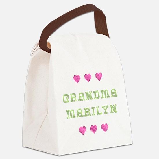 Grandma Marilyn Canvas Lunch Bag