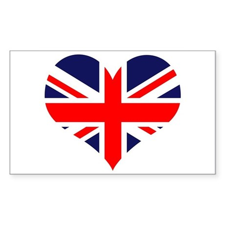 British Heart Rectangle Sticker