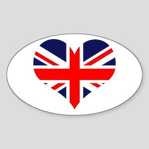 British Heart Oval Sticker
