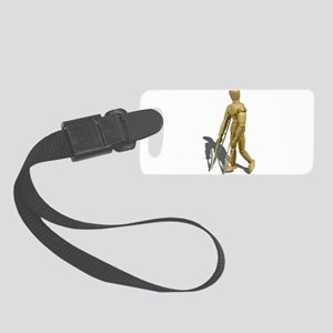 ModelWalkingWithCrutches110511.p Small Luggage Tag