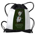 There are Always Flowers Drawstring Bag