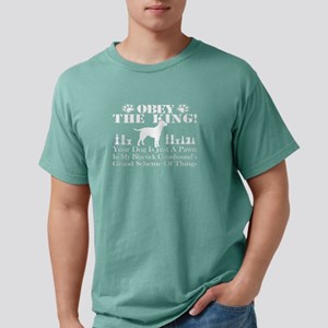 OBEY THE KING BLUETICK C Mens Comfort Colors Shirt