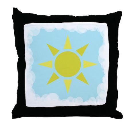 Sun and Sky Throw Pillow