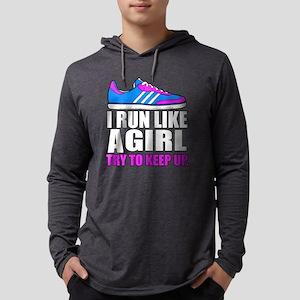 Run Like A Girl Mens Hooded Shirt