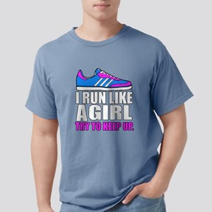 Run Like A Girl Mens Comfort Colors Shirt