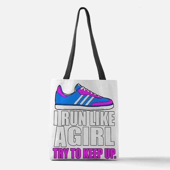 Run Like A Girl Polyester Tote Bag