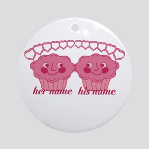 Personalized Cuddle Muffins Ornament (Round)